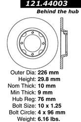 127.44075CL Brake Rotor StopTech