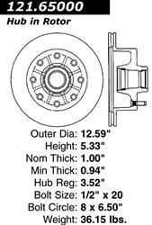 127.65082CR StopTech Brake Rotor