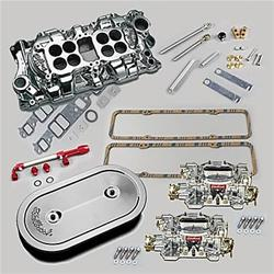 Summit Racing 03-0147 - Summit Racing® Intake Manifold, Carburetor, and Air Cleaner Pro Packs