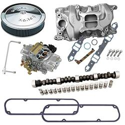 330 Summit Racing® Intake Manifold, Carburetor, and Air Cleaner Pro Packs  03-0162