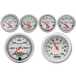 Summit Racing 07-0002 - Summit Racing® Auto Meter Ultra-Lite Analog Gauge Pro Packs