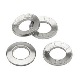 Chrome Cragar 27225-4: Lug Nut Washers O.D. Steel Set of 4 Offset Round 1.250 in