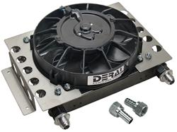 Derale Cooling Products 15850 - Derale Atomic-Cool Remote Fan-Mounted Oil Coolers