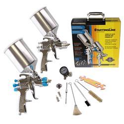 Hvlp Spray Gun Kit >> Devilbiss Startingline Hvlp Gravity Feed Paint And Primer Spray Gun Kits 802343