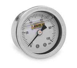 Earl's Performance 100187ERL - Earl's Performance Analog Fuel Pressure Gauges