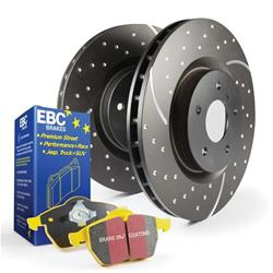 EBC Brakes S5KR1282 - EBC Stage 5 Superstreet Disc Brake Kits