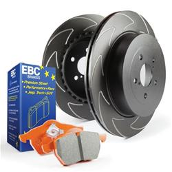 EBC Brakes S7KR1021 - EBC Stage 7 Kits Orangestuff Brake Pads and BSD Sport Series Rotors