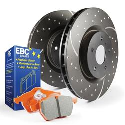 EBC Brakes S8KF1025 - EBC Stage 8 Kits Extra-Duty Brake Pads and GD Rotors