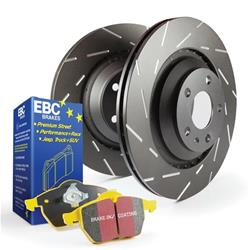 EBC Brakes S9KF1225 - EBC Stage 9 Kits Yellowstuff Brake Pads and USR Rotors