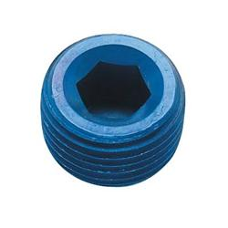 Professional Products Blue 1//8NPT Pipe Plug 15377