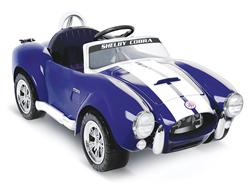 Shelby Cobra Battery-Powered Ride-On (blue)