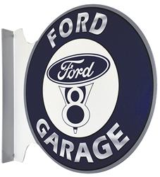 Ford Garage Double Sided Steel Sign Fv F