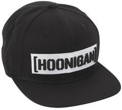 HOONIGAN INDUSTRIES HA302CBAR-BK - Hoonigan Censor Bar Black Flat Brim Hat 60a26461c2d5