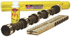 """Howards Rocker Arm Kit 90005; 3//8/"""" Steel Long Slot for Chevy 262-400 SBC"""