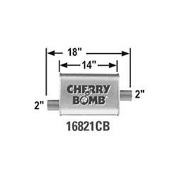 Cherry Bomb 16821CB - Cherry Bomb Mufflers