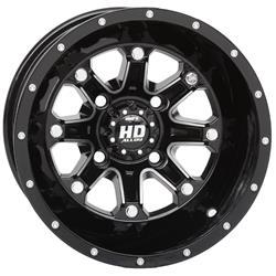 STI Tire and Wheel 12HD403 - STI HD4 Machined Gloss Black Alloy Wheels