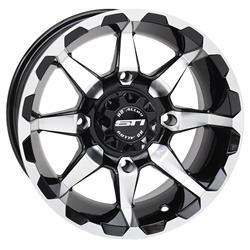 STI Tire and Wheel 14HD6039 - STI HD6 Machined Gloss Black Alloy Wheels