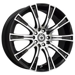 Konig Wheels CW67T54405 - Konig Crown Gloss Black Wheels with Machined Face