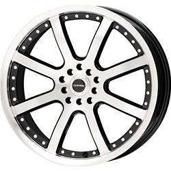 Liquidmetal Wheel 27-8818B - Liquidmetal Wheel Stinger Black Wheels with Machined Face