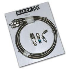 March Performance Braided Power Steering Hose Kits P327