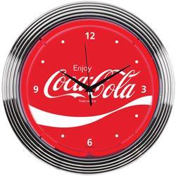 Enjoy Coca-Cola Neon Clock 8CCWAV
