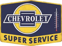 Summit Gifts 90150963 - Chevrolet Super Service Thermometer Signs