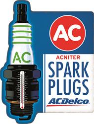 Summit Gifts 90152406 - AC Delco Spark Plugs Thermometer Signs