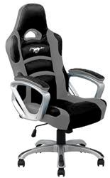 Gray/Black Racing Office Chair with Ford Mustang Emblem