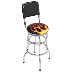 Flames Barstool With Back 801126