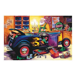 Hot Rod Workshop Santa and Elves Christmas Card Sets CC821 - Free ...