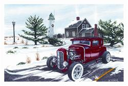 Red Hot Rod Christmas Cards