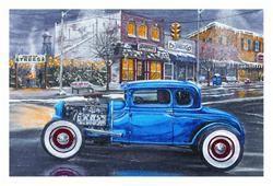 Hotrod in Town Christmas Cards -set of 10 X883 - Free Shipping on ...