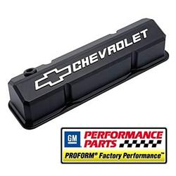 Proform Parts 141-921 - Proform GM Licensed Slant Edge Valve Covers