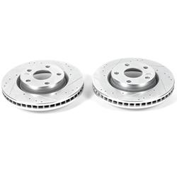 Power Stop AR82135XPR Rear Evolution Drilled /& Slotted Rotor Pair