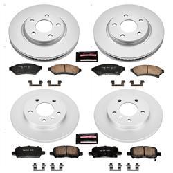 front Power Stop CRK1588 Coated Brake Rotor /& Ceramic Brake Pads
