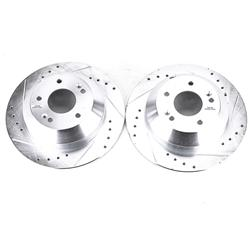 Power Stop JBR1705XPR Performance Drilled and Slotted Rear Brake Rotor Pair