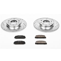 Power Stop K4713 Front Z23 Evolution Brake Kit with Drilled//Slotted Rotors and Ceramic Brake Pads