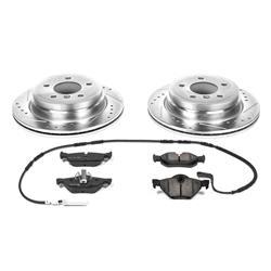 Power Stop K4103 Front /& Rear Brake Kit with Drilled//Slotted Brake Rotors and Z23 Evolution Ceramic Brake Pads