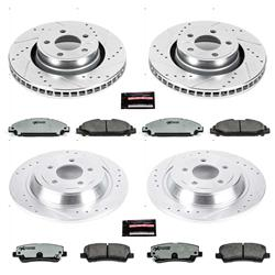 Power Stop K6812-26 Z26 Street Warrior Extreme Performance Brake Kit Pads with Drilled And Slotted Rotors