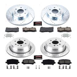 Power Stop CRK6817 Coated Rotor and Ceramic Brake Pads-Rear
