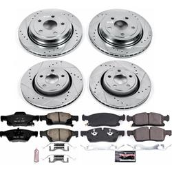 Power Stop K7298-36 Z36 Truck /& Tow Front /& Rear Kit Rotor and Carbon-Fiber Ceramic Brake Pads