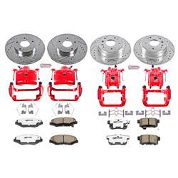 Power Stop KC1445-26,Z26 Front and Rear Brake Caliper Kit-Brake Rotor Brake Pads /& Calipers