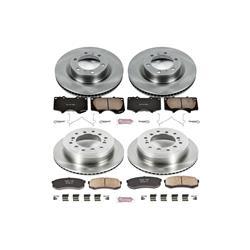 front /& rear Power Stop CRK2829 Coated Brake Rotor /& Ceramic Brake Pads