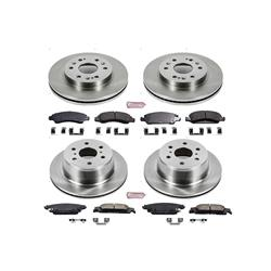 Power Stop KOE5928 Autospeciality Replacement Front Brake Kit OE Rotors /& Ceramic Brake Pads