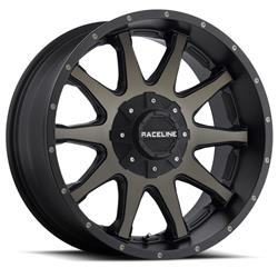 Raceline Wheels 930DM-89081+18 - Raceline Wheels 930DM Shift Dark Tint Face with Matte Black Lip Wheels