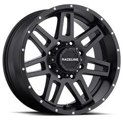 Raceline Wheels 931B-21266-44 - Raceline Wheels 931B Injector Matte Black Wheels