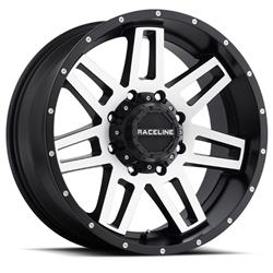 Raceline Wheels 931M-89088+18 - Raceline Wheels 931M Injector Matte Black Wheels with Machined Face