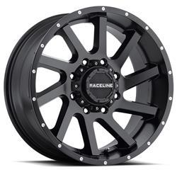 Raceline Wheels 932B-29081-00 - Raceline Wheels 932B Twist Matte Black Wheels