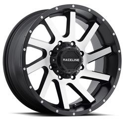 Raceline Wheels 932M-29093-00 - Raceline Wheels 932M Twist Matte Black Wheels with Machined Face