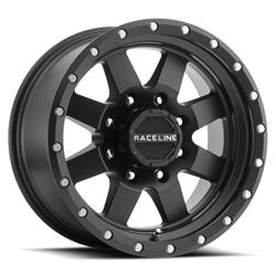 Raceline Wheels 935B-29060-12 - Raceline Wheels 935B Defender Matte Black Wheels
